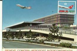 Enveloppe Timbrée  _Suisse (Genève_Cointrin -Aeroport Intercontinental )  _  Neuve 1987 - GE Geneva