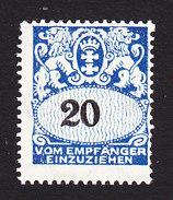 Danzig, Scott #J33, Mint Hinged, Coat Of Arms, Issued 1923 - Danzig