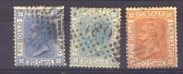 05949  -   Italie :  Yv   23-23a-24  (o) - 1861-78 Victor Emmanuel II.