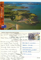Aerial View, Waitangi, New Zealand Postcard Posted 1999 Stamp - New Zealand