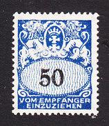 Danzig, Scott #J36, Mint Hinged, Coat Of Arms, Issued 1923 - Danzig