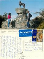 Sheep Dog Monument, Tekapo, New Zealand Postcard Posted 1995 Stamp - New Zealand