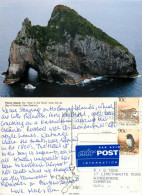 Hole In The Rock, Piercy Island, New Zealand Postcard Posted 1994 Stamp - New Zealand