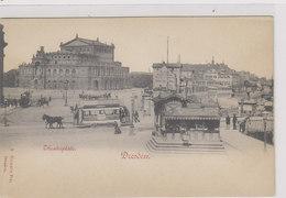 Dresden -Theaterplatz Mit Pferdetram      (PA-4-100713) - Dresden
