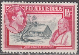 Pitcairn Islands 1940 Michel 3 Neuf ** Cote (2005) 0.60 Euro Roi George VI Maison De John Adams - Pitcairn