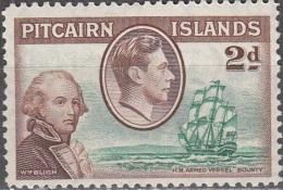 Pitcairn Islands 1940 Michel 4 Neuf ** Cote (2005) 2.50 Euro Roi George VI Lieutenat Bligh - Pitcairn