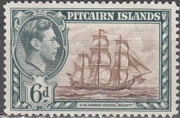 Pitcairn Islands 1940 Michel 7 Neuf ** Cote (2005) 5.50 Euro Roi George VI Navire Bounty - Pitcairn