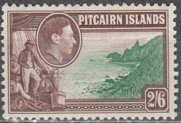 Pitcairn Islands 1940 Michel 10 Neuf ** Cote (2005) 8.50 Euro Roi George VI Christian Fletcher - Pitcairn