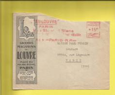 Enveloppe Ou Lettre Publicitaire Commerciale De PARIS Grands Magasins Du LOUVRE  Machine Affranchir  C.3850 15 01 51 - Marcophilie (Lettres)