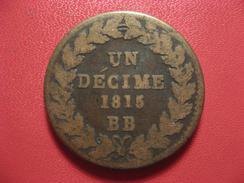 Strasbourg - Décime 1815 BB - Variété Sans Point à Décime, Sans Point à BB 8390 - France