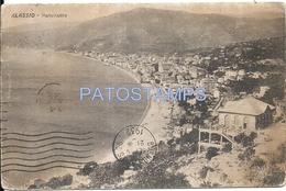 61120 ITALY ALASSIO VIEW PANORAMA BREAK CIRCULATED TO ARGENTINA POSTAL POSTCARD - Italia