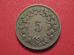 Suisse - 5 Rappen 1884 8213 - Suiza