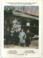 Theme Celebrités Cpa Photo Marechal Foch A Compiegne Oise 1918 Aristice Weygang Wemyss Hope ... - Hommes Politiques & Militaires