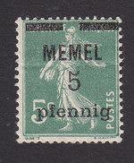 Memel, Scott #18, Sower Surcharged, Issued 1920 - Neufs