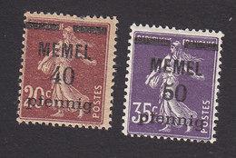 Memel, Scott #22-23, Sower Surcharged, Issued 1920 - Memel (1920-1924)