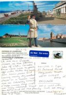 Louisbourg Fortress, Cape Breton Island, Nova Scotia, Canada Postcard Posted 2013 Stamp - Cape Breton