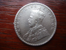 INDIA  REGAL COINAGE (BRITISH) 1918C GEORGE V ONE RUPEE SILVER COIN USED.(Ref:HG24) - Inde