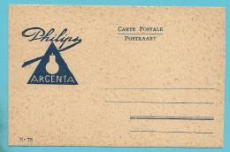 """Kaart  """"PHILIPS ARGENTA"""" Ongebruikt - Electricity & Gas"""