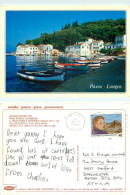 Longos, Paxos, Greece Postcard Posted 1995 Stamp - Greece