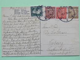 """Czechoslovakia 1931 Postcard """"Prague Museum Tramway"""" To Coburg - Arms - Czechoslovakia"""
