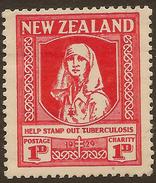NZ 1929 1d+1d Health Nurse SG 544 HM #WQ214 - 1907-1947 Dominion