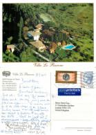 Villa Le Barone, Panzano In Chianti, FI Firenze, Italy Postcard Posted 2004 Stamp - Firenze