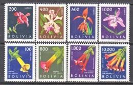 BOLIVIA   459-62, C 237-40    *  FLOWERS - Bolivia