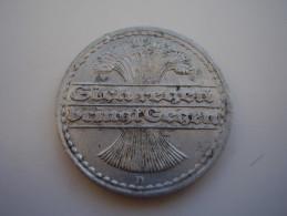 GERMANY 1921 FIFTY  PFENNIG USED COIN ALUMINIUM Mintmark D.(Ref:HG18) - [ 3] 1918-1933 : Weimar Republic