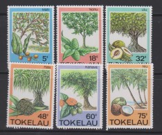 Tokelau Mi 111-116 Trees, Fruits, And Herbs - Mati - Noni - Ulu- Fala - Kanava - Niu 1985 * * - Tokelau