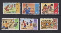 Tokelau Mi 90-95  Traditional Games - Javelin - Tifaga String - Fire Making - Shell Throwing - Handbal - 1983 ** - Tokelau