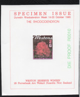 New Zealand Wine Post Rhododenron Rare Red Specimen Overprint - New Zealand