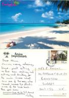 Worthing Beach, Barbados Postcard Posted 2008 Stamp - Barbados