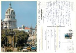 Paseo Del Prado, Habana, Cuba Postcard Posted 2010 Stamp - Cuba