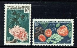 1959  Coraux Et Poissons  Yv 293-4  ** - Neukaledonien