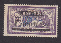 Memel, Scott #27, Mint Hinged, French Stamp Surcharged, Issued 1920 - Memel (1920-1924)