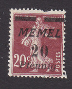 Memel, Scott #54, Mint Hinged, Sower Surcharged, Issued 1922 - Memel (1920-1924)