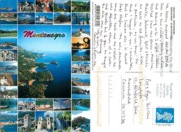 Multiview, Montenegro  Postcard Posted 2014 Stamp - Montenegro