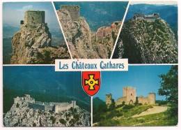 11 - QUILLAN - Les Châteaux Cathares - Ed. Cim Combier - 1982 - Multivues Avec Blason - France