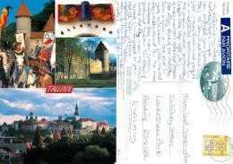 Tallinn, Estonia Postcard Posted 2001 Stamp - Estonie