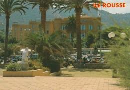 58287- ILE ROUSSE LA PLACE TINO ROSSI ET LE GRAND HOTEL NAPOLEON POSTCARD UNUSED - Calvi