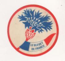 MILITARIA  - VIGNETTE LE BLEUET DE FRANCE - AIDE CARICATIVE AU ANCIENS COMBATTANTS - VOIR LE SCANNER - Documentos