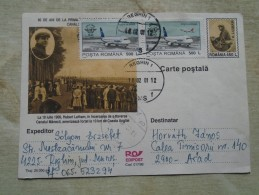 D142361 Aviator Hubert Latham -  Avion - Plane - ROMANIA Postal Stationery - Reghin Additional Stamps Boeing TAROM - Unclassified
