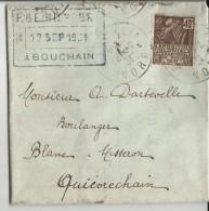 Timbre Sur Lettre N°271 Exposition Coloniale, DAGUIN De Bouchain (Nord) - Storia Postale