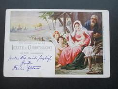 Österreich / Levante 1899 Jerusalem Österreichische Post.Betleem Timbre D'envoi Conc.a La Cie Intlle. Letzte Christnacht - Levante-Marken