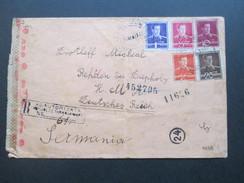 Rumänien / Deutsches Reich 1943 R-Brief AG Autorizata No 61. Zensur Der Wehrmacht. Viele Zensurstempel!!Geöffnet! - 2. Weltkrieg (Briefe)