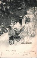 ! Alte Ansichtskarte, Schweiz, L`Hiver A La Montagne Descente Des Billons, Forstwirtschaft - Sonstige
