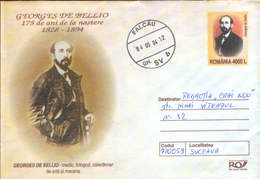 Romania - Stationery Cover 2003 Used - Medicine-Georges De Bellio,Romanian-born French Homeopathic Doctor, Art Collector - Medicina