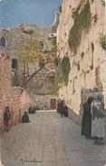 CPA Jérusalem Mur Des Lamentations Klagemauer Der Juden Farbenphotographische Gesellschaft Stuttgart - Israel