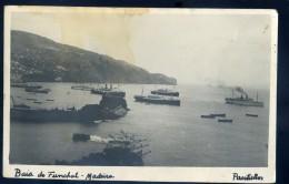 Cpa Carte Photo Du Portugal Madeira , île De Madeire -- Baie De Funchal  -- Funchall En 1938      NCL8bis - Madeira