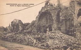 Montdidier Apres La Grande Guerre Portail De L'eglise Saint Sulpice - Montdidier